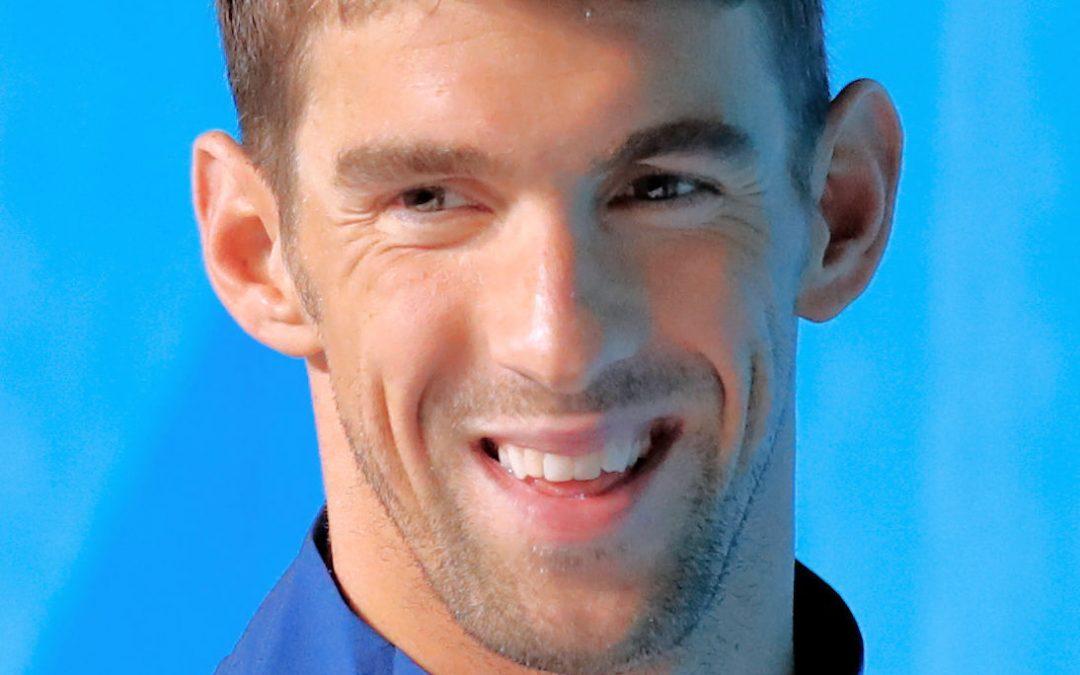 Phelps derrotado por un tiburón blanco (Carcharodon carcharias)